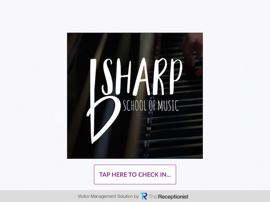 B Sharp check-in screen