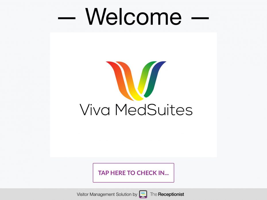 Viva MedSuites check-in screen