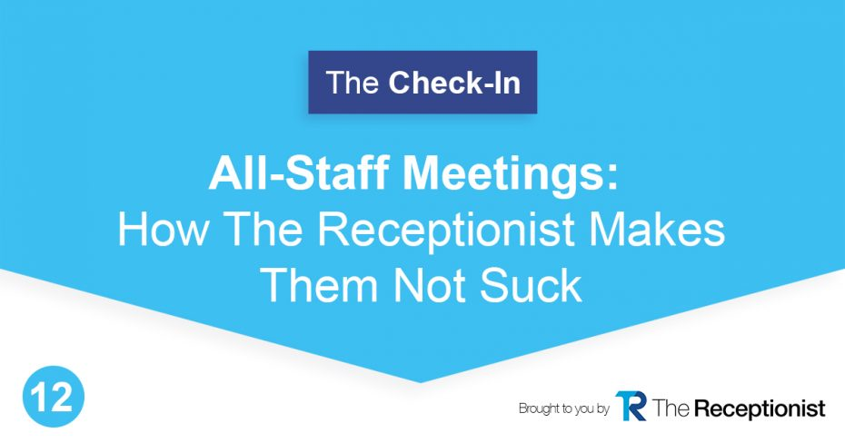 Great staff meetings