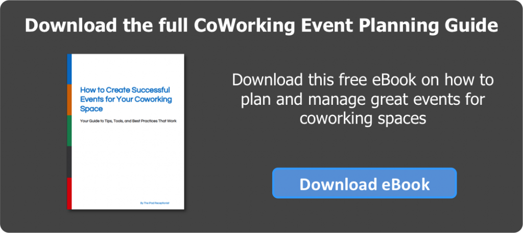 CoWorking Space Event Planning Guide