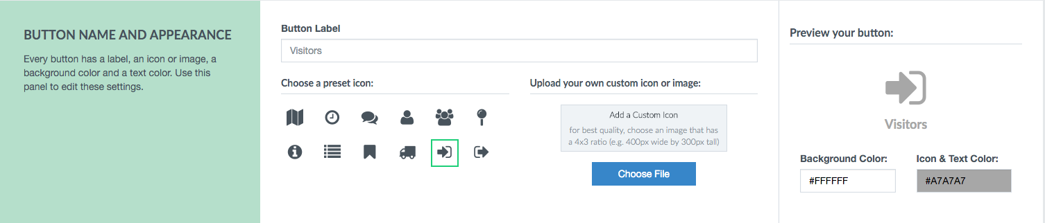 the new look of editing a button