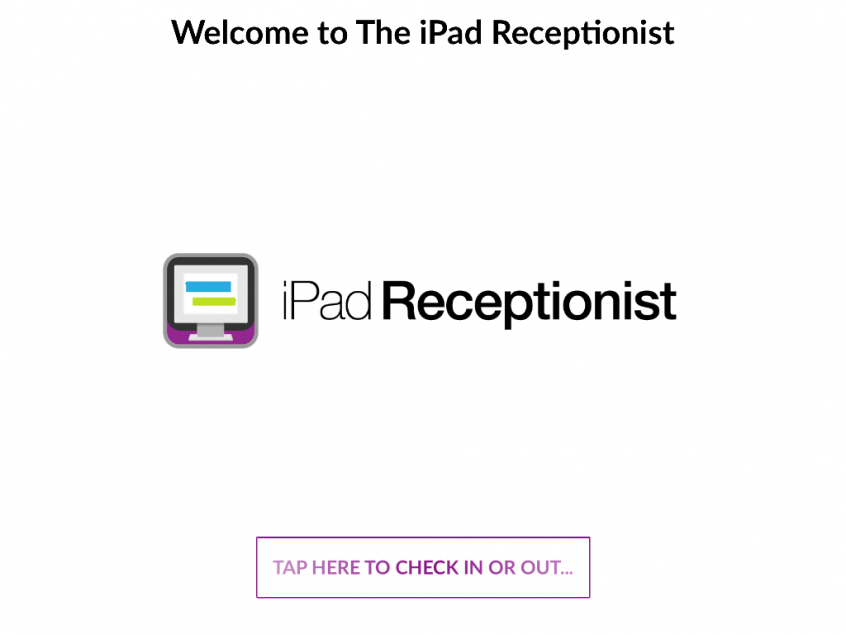 The iPad Receptionist visitor management system