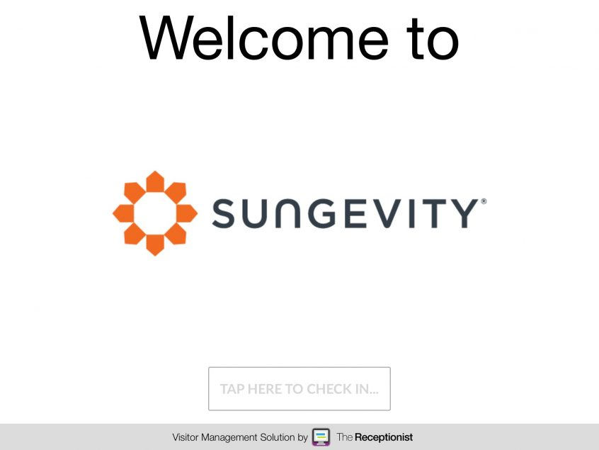 Sungevity Welcome Screen