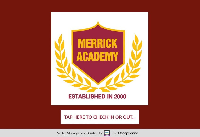 Merrick Academy check-in screen