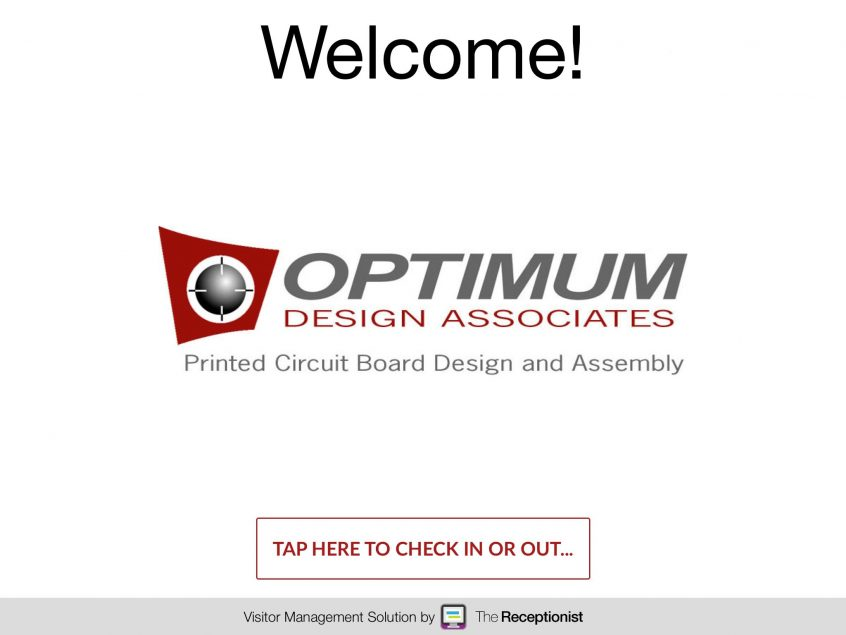 Optimum Design check-in screen