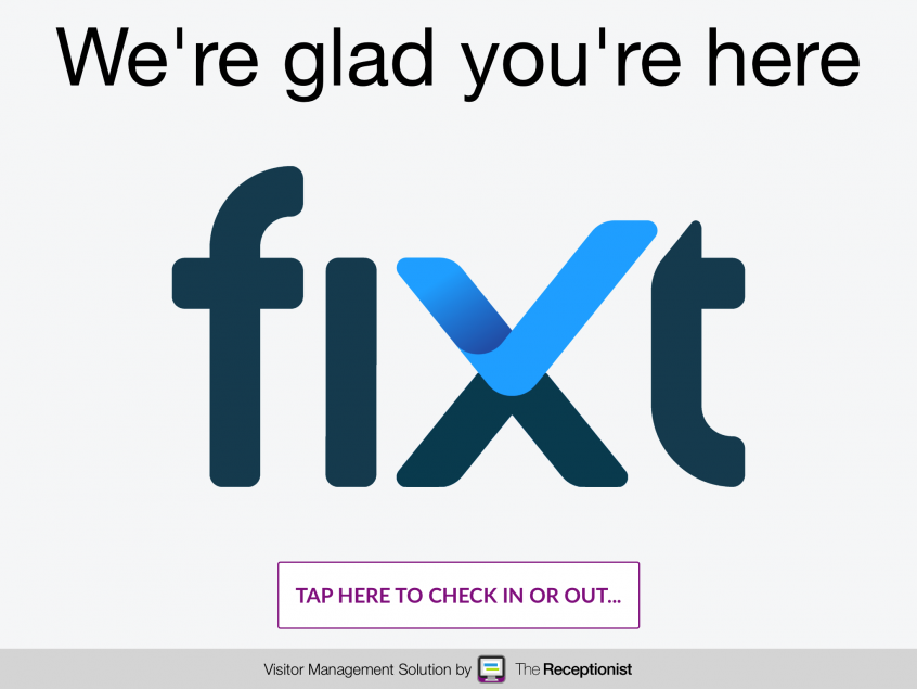Fixt.co check-in screen