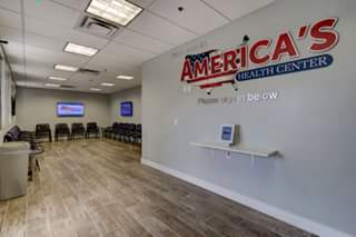 America's Health Center entry and waiting room