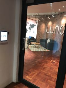 Luno reception area