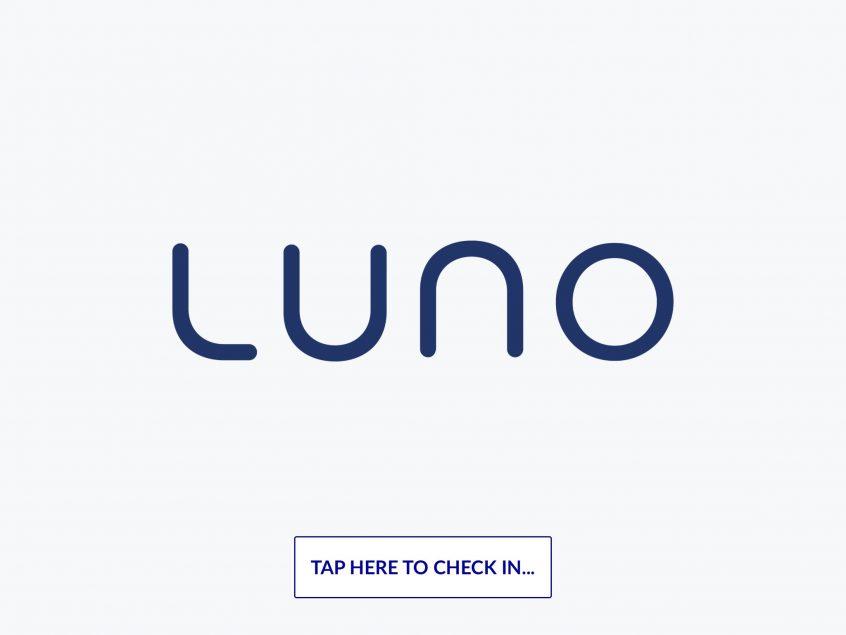 Luno check-in screen