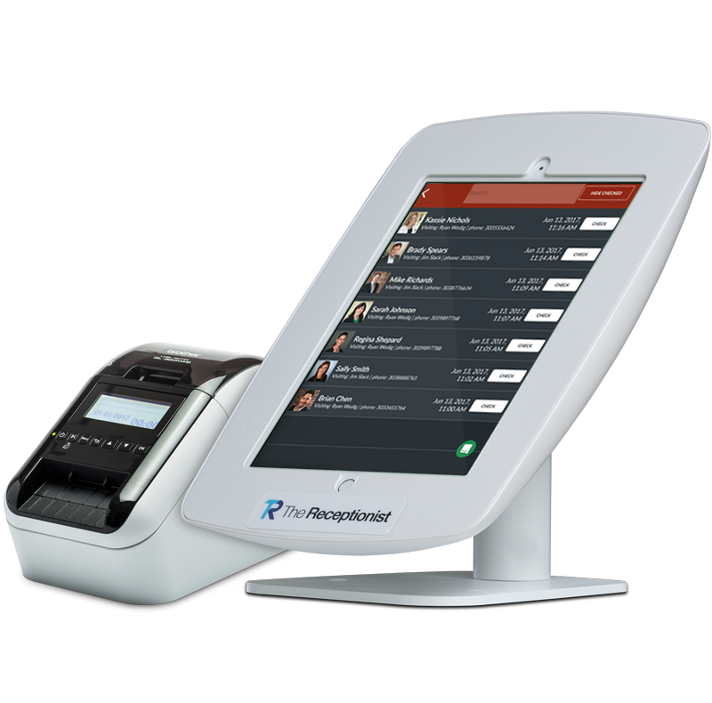 The Receptionist for iPad with Badge Printer