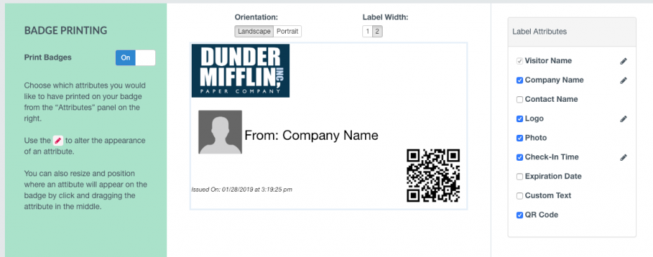 photo regarding Dunder Mifflin Name Tag Printable titled The Receptionist Information and Upgrades Archives - The Primary